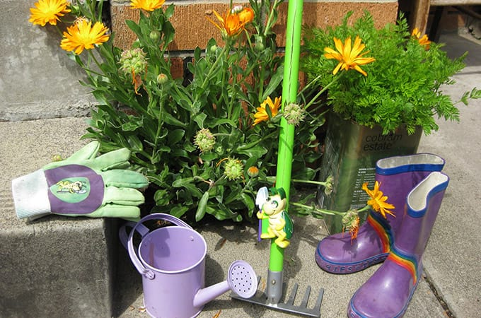 gardening with kids - tools